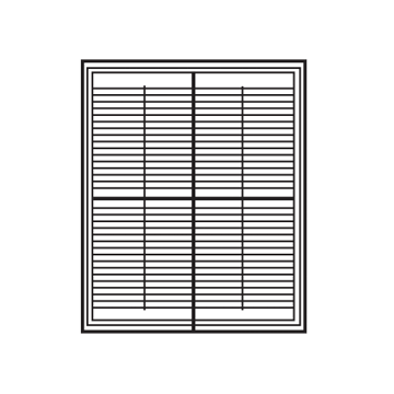 Tier on Tier style shutters